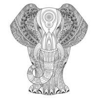 Mandalas zum Ausdrucken und Ausmalen - Mandala Elefant I