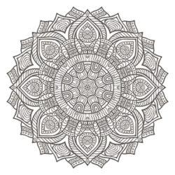 Mandalas zum Ausdrucken und Ausmalen - Mandala Ornament I